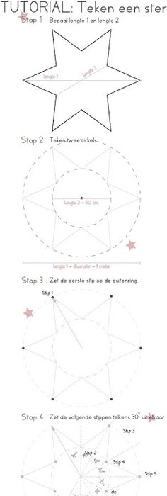 drafting a 5 point star with string for hex sign Signs Pinterest - comment calculer le dpe d une maison