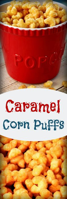 Caramel Corn Puffs , Recipe Treasures