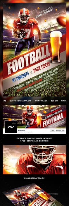 The Football Flyer Template Psd  Buy And Download Http