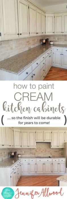 Luxury Cream Glazed Kitchen Cabinets