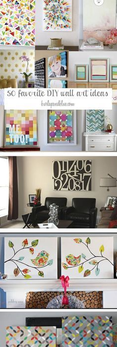 50 DIY Wall Art Tutorials. Wall Art CraftsDecor ...