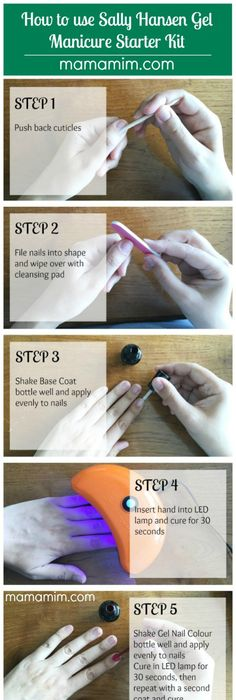 How to do your own gel nails at home makeup nail nail and manicure sally hansen gel manicure starter kit review tutorial mamamim gel nails shellac solutioingenieria Image collections