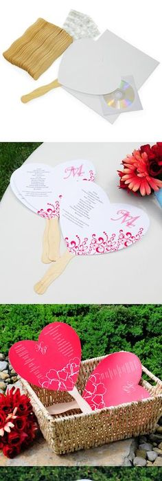 Diy para bodas tutorial de pai pais diario de una novia wedding do it yourself heart fan wedding programs kit solutioingenieria Image collections