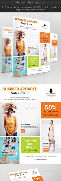 pink and orange clothing store flyer stock illustration canva design photo art photographer pinterest