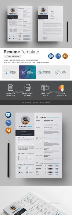 Dalston Free Resume Template Microsoft Word  Blue Layout  Kundan