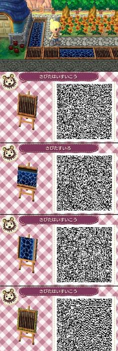Acnl white brick path qr code animal crossing new leaf for Animal crossing boden qr