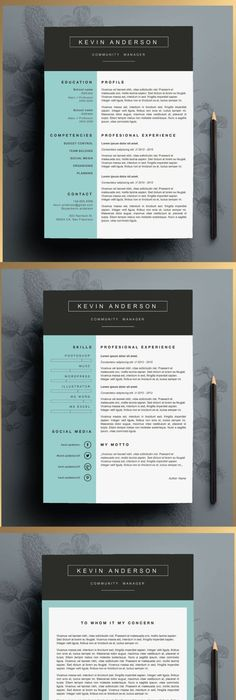 Professional Resume Template, CV Template, Cover Letter, Creative - best of how to do letter format on microsoft word 2007