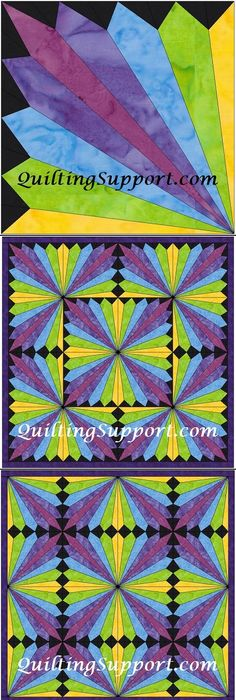 North carolina lily quilt pattern item details department of free hc rainbow fan template pattern toneelgroepblik Image collections