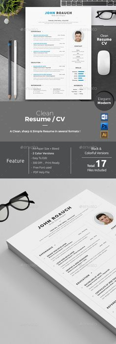 Simple Resume Template Ms Word By TheFrenchResume On