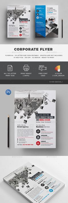 Corporate / Business Flyer Template PSD Flyer Templates - web flyer template