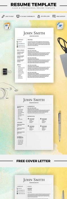 Professional resume template ms word compatible best cv template simple resume template cv template free cover letter microsoft word on mac yelopaper Images