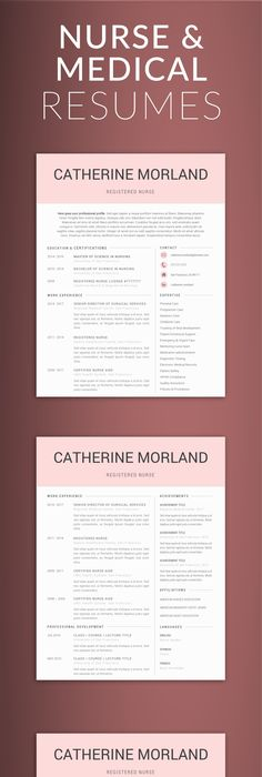 Templates For Resumes Word Interesting Doctor Resume Template For Word & Pages Nurse Resume Template .