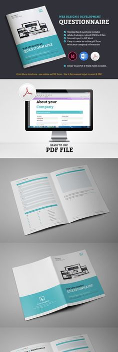 Questionnaire Web Design Brochures, Typography layout and - web design proposal template