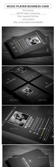 Free Music Business Card PSD Template Free Stuff Pinterest - Music business cards templates free