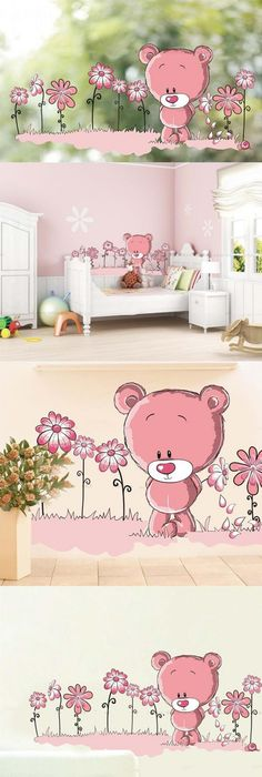 MJ8007B Warm Romantic Purple Flower Wall Stickers DIY Living Room TV ...