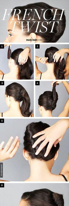 Audrey hepburn french twist hairstyle quite