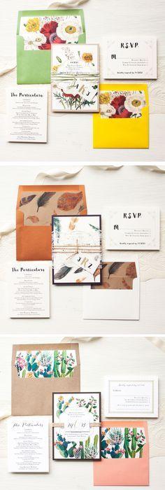 Wedding Invitation, Wedding Invitations, Wedding Invites, Bohemian - formal invitation style