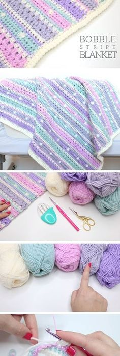 Crochet Baby Blanket Easy Quick And Pretty No Pattern But Does