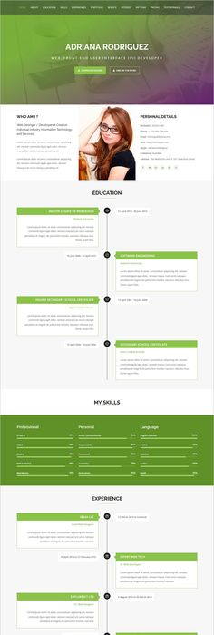 Rejume  Personal Resume Template  Resume Cv Template And Web