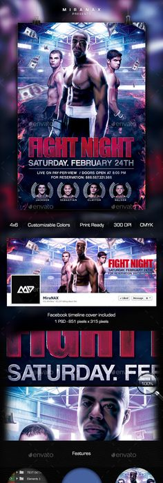 Showdown Fight Night Psd Flyer Template  Psd Flyer Templates