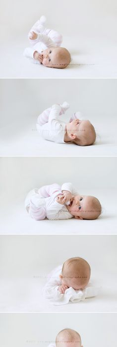 Simple and sweet non sitting baby photo ideas