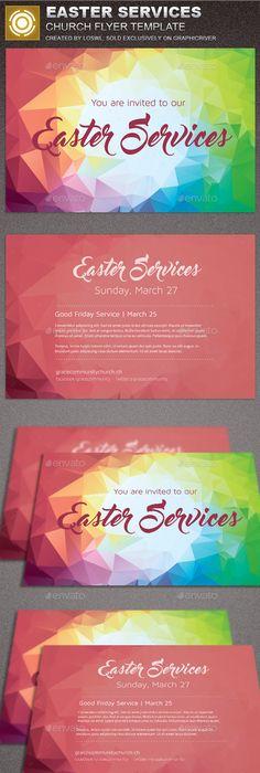 Best Easter Church Flyer Print Templates   Flyer Template
