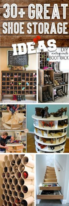 10 DIY Beautiful And Easy Living Room Decoration Ideas 7. Shoe Storage ...