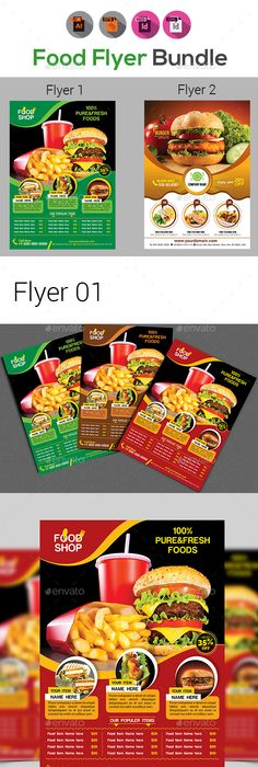 Fast Food Flyer  Flyer Template Template And Brochures