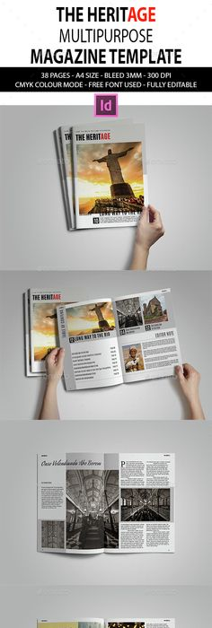 Indesign Magazine Template Indesign magazine templates, Template