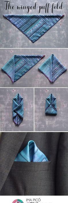 Pochette En Coton Pour Hommes Carré - Solitaire Par Vida Vida VsvKSV