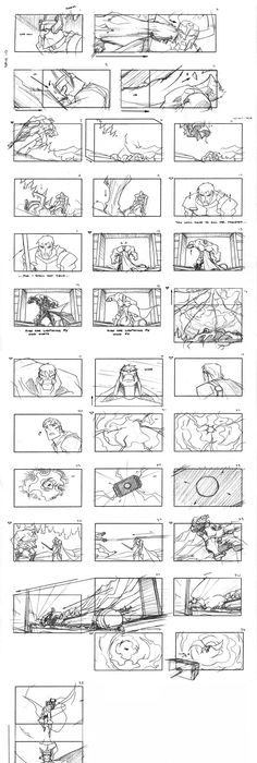 Lots Of Pdf Storyboards  Perfect To Map Out A Video Book Or