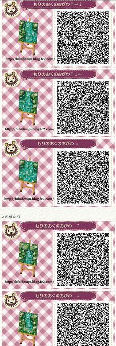 Animal crossing new leaf qr codes bumbury lawn forest for Acnl boden qr