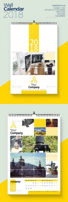 Corporate Business Wall Calendar 2018 V07 | Calendar 2017, Corporate ...