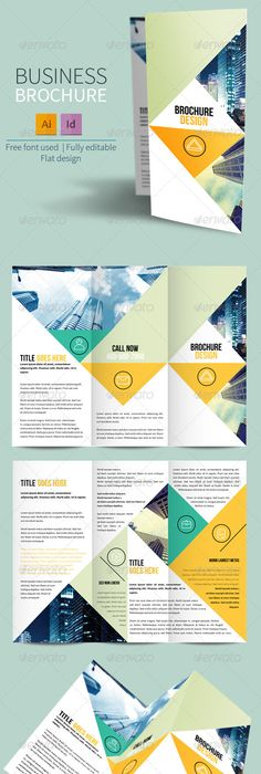 Travel Agency Trifold Brochure Eps Template Business Trifold