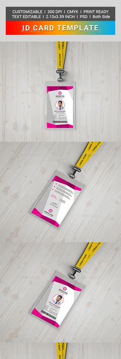 Conference expo corporate pass id badge 600 corporate flyer idcard miscellaneous print templates fandeluxe Gallery
