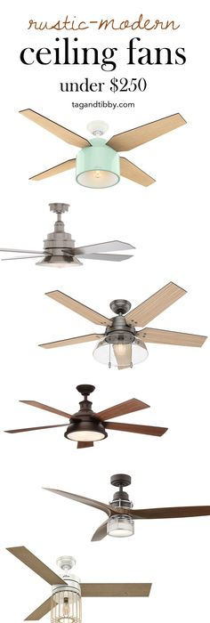 dazzling design ideas modern rustic ceiling fan. 8 Modern Rustic Ceiling Fans for Under  250 Home Decorators Collection 52 in Indoor Outdoor Weathered Gray