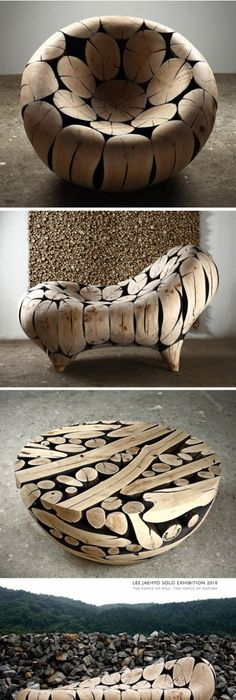 Sculptures Of Korean Artist Lee Jae Hyo (Jaehyo Lee 1965  ). Timber  Production, Both Natural Feeling, At The Same Time Strengthen The Simple  Geometric ...
