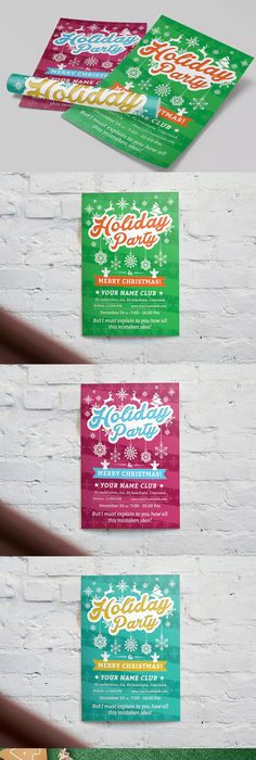 Carnival Party Flyer Template PSD Flyer Design Templates - holiday party flyer template