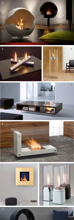 1 Tulip Fireplace By Biofireplace 2 Cupola Vauni 3 Tabletop