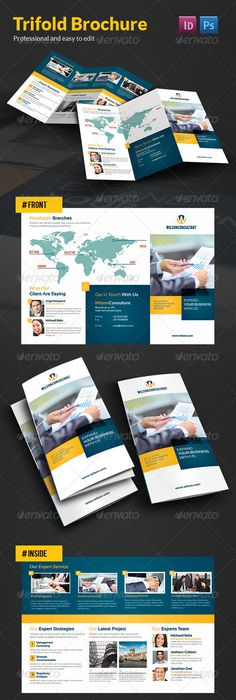 Gym Fitness Trifold Brochure Indesign Template  Indesign
