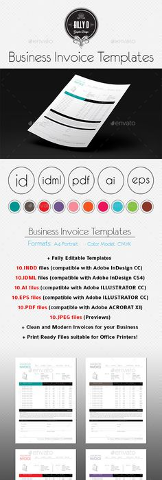 Invoice Template Freelance Designer  DesignersKit  Invoices
