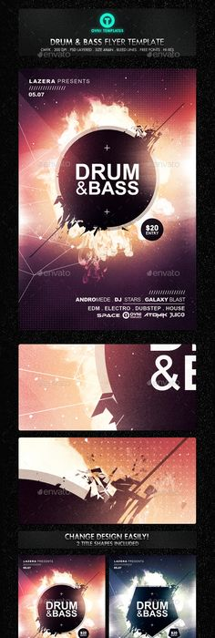 Space Futuristic Astronaut Flyer Template Psd  Dpi Bundle