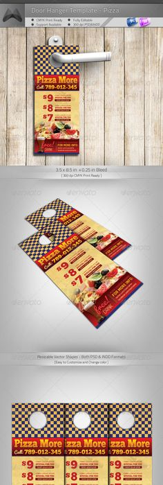 Corporate Door Hangers V  Door Hanger Template Print Templates