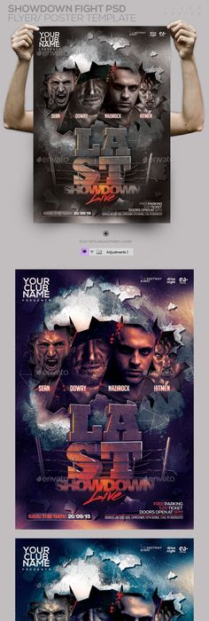 Showdown Fight Night Psd Flyer Template  Psd Flyer Templates Fight
