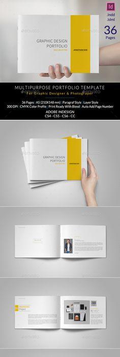 InDesign Portfolio brochure- V127 | Brochures, Template and Brochure ...