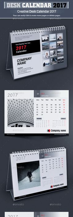 2016 Desk Calendar Design Calendar Design Desk Calendars And Desks