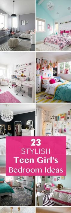 23 Stylish Teen Girlu0027s Bedroom Ideas