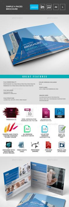 Free Bifold Booklet Flyer Brochure InDesign Template No. 1   Free ...