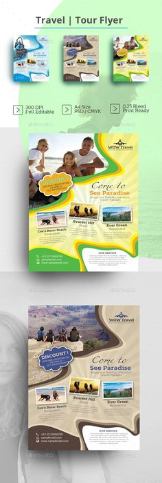 Travel Agency Flyer  Print Design