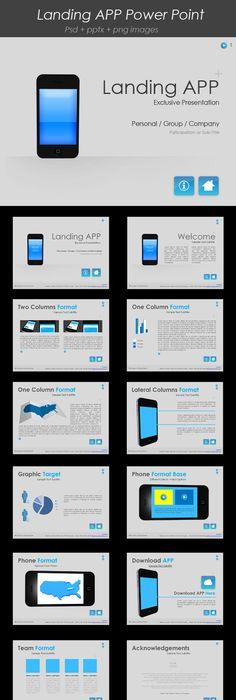 Download online shopping cart powerpoint template ppt and power landing app powerpoint template toneelgroepblik Gallery